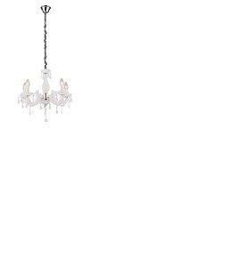 Lustre Treviso 5 luzes Branco