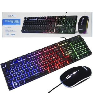 Kit Teclado Mouse Gamer G550 Computador Pc Usb Iluminado