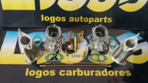 Kit Solex 40 Fusca/Kombi/Brasília Original a Gasolina com Acionamento Comum