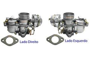 Carburador Kombi Duplo H32 1500/1600 ano 79/96 Gasolina Original Solex