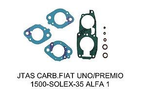 JUNTAS CARBURADOR FIAT UNO/PRÊMIO 1500 SOLEX - 35 ALFA 1