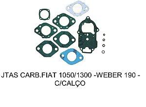 JUNTAS CARBURADOR FIAT 1050/1300 - WEBER 190 C/ CALÇO
