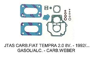 JUNTAS CARBURADOR FIAT TEMPRA WEBER 460 2.0 8V 1992 ÁLCOOL/GASOLINA