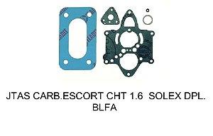 JUNTAS CARBURADOR ESCORT CHT 1.6 SOLEX BLFA 30-34 GASOLINA/ÁLCOOL