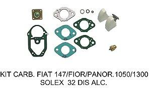 KIT CARBURADOR FIAT 147/ FIORINO/ PANORAMA 1050/1300 SOLEX 32 DIS ÁLCOOL