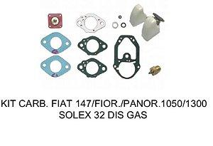 KIT CARBURADOR FIAT 147/FIORINO/PANORAMA 1050/1300 SOLEX 32 DIS GASOLINA