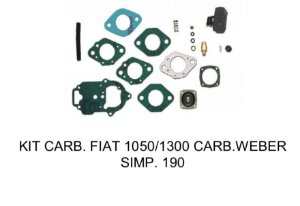 Kit Carburador Fiat 1050/1300 Weber 190 Simples