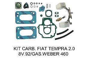Kit Reparo Fiat Tempra 2.0 Gasolina Carburador 460 Weber Duplo