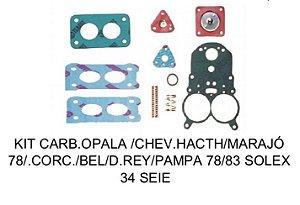 Kit Reparo Carburador Opala Chevette Marajó 78/83 Solex H34 SEIE
