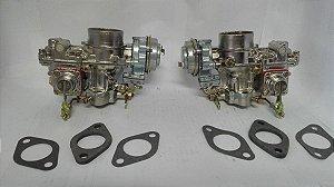 Carburador Fusca Duplo Álcool H32 Original Solex (Par)