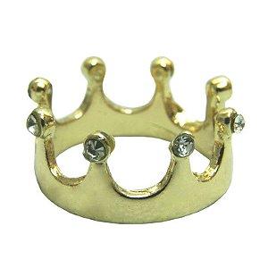 Anel Coroa com Strass