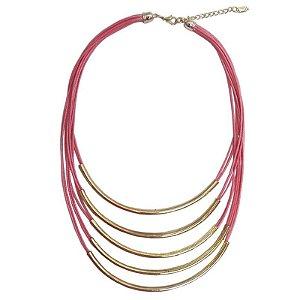 Maxi colar linhas com metal