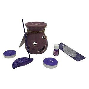 Kit incensario e aromatizador