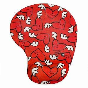 Mouse pad corações
