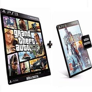 Gta V + Battlefield 4 PS3 Game PSN Mídia Digital