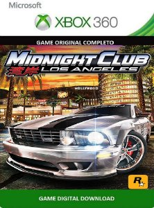 Midnight Club: Los Angeles Xbox 360 Game Midia Digital Original