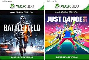 Battlefield 3 + Just Dance 2018 Xbox 360 Game Mídia Digital Xbox Live