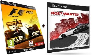 F1 2014 + Need for Speed Most Wanted PS3 Game Mídia Digital PSN Original