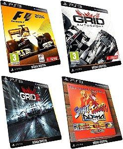F1 2014 + Grid 1-2 + Street Fighter PS3 Game Mídia Digital PSN Original
