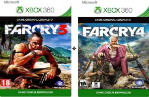 Far Cry Duplo 3 4 Xbox 360 Game Mídia Digital Original