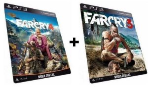 Far Cry 3 + 4 PS3 Game Digital PSN