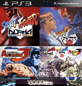Street Fighter Alpha Coleção 1 2 3 Ps3 Psn - GAME DIGITAL ORIGINAL