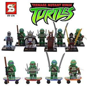 Tartarugas Ninjas Série de Ações Mini figuras Lego Conjunto Com 8 peças