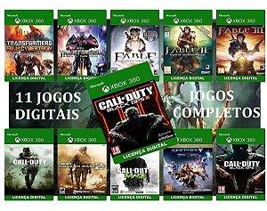 Call of Duty Combo 11 Games Xbox 360 Originais Digital Xbox Live