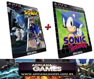 Sonic Unleashed e Sonic 1 Game Original Jogo PS3 Psn PLaystation 3