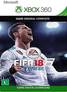Fifa 18 EA Sport Game Xbox 360 Jogo Digital Original Licença Xbox Live