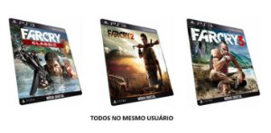 Far Cry Trilogia 1 2 3 PS3 Jogo Digital PSN PLAYSTATION STORE