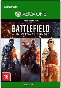 Battlefield Pacote de Aniversário 3 Games Digitais Jogo Xbox One