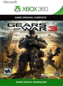 Gears of War 3 Xbox 360 Jogo Digital Original Xbox LIve