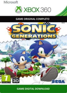 Sonic Generations Xbox 360 Jogo Digital Original