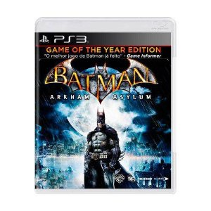 Batman: Arkham Asylum Jogo PS3 DVD Físico Game Novo