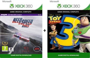 Need For Speed Rivals + Toy Story 3 Game Xbox 360 Jogo Digital Original Xbox Live