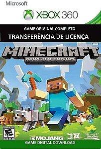 Minecraft Game Xbox 360 Mídia Digital Original