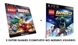 Lego Marvel Super Heroes + Lego Batman 3 - Combo Game Digital PS3 PSN