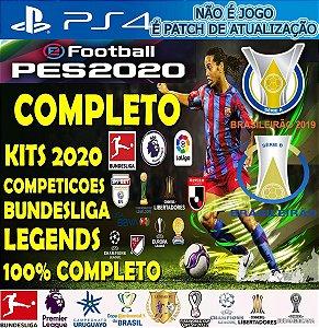 Patch Pes 2020 Efootball Ps4 (NÃO É JOGO) - PATCH DE ATUALIZAÇÃO COMPLETO