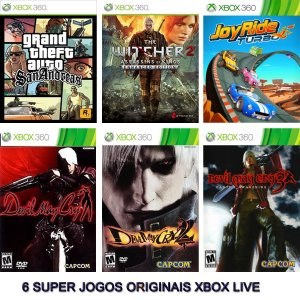 Combo 6 Games Xbox 360 Digitais Originais Xbox Live