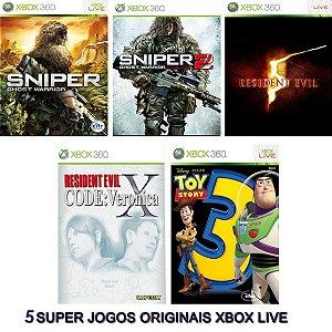 Combo 5 Games Xbox 360 Digitais Originais Xbox Live