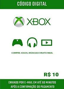 Cartão Presente Microsoft Gift Card Xbox R$10