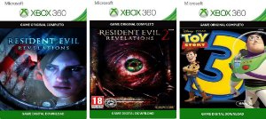 Resident Evil Revelation 1 e 2 + Toy Story 3 Xbox 360 Game Digital Original