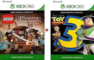 Lego Piratas dos Caribe + Toy Story 3 Xbox 360 Game Digital Original