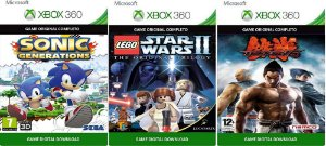 Sonic Generations + Lego Star Wars 2 Trilogy + Tekken 6 Xbox 360 Game Digital Original Xbox Live
