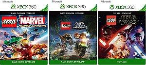 Lego Marvel super Heroes + Lego Jurassic World + Lego Star Wars o Despertar da Força Game Digital Original Xbox Live