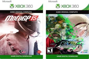 Moto GP 15 +  The King OF Fighters XIII Xbox 360 Game Digital Original Xbox Live