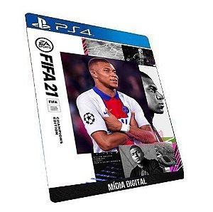 FIFA 21 PS4 & PS5 Edição dos Campeões Game Digital PSN