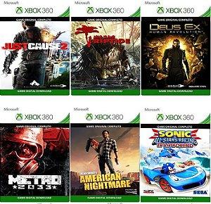 Combo 6 Games Xbox 360 Digital Jogos Originais Xbox Live