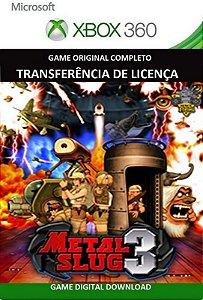Metal Slug 3 Xbox 360 Game Mídia Digital Original